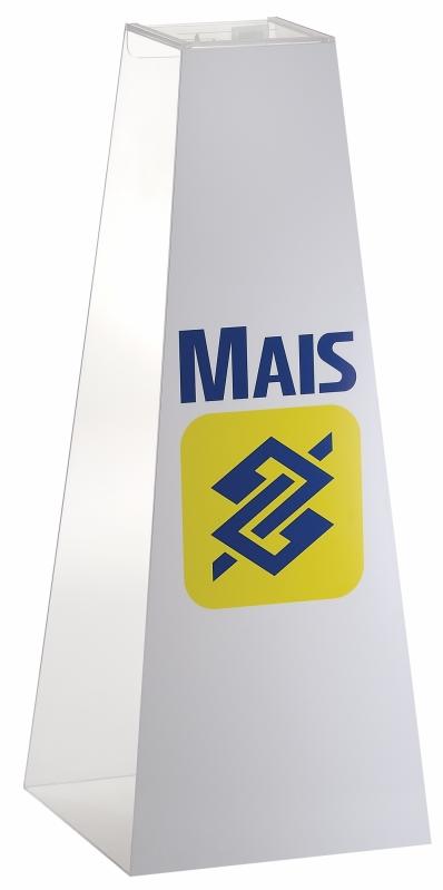 Urna de Acrílico para Sugestões Preço em Novo Hamburgo - Urna Pirâmide para Sorteio