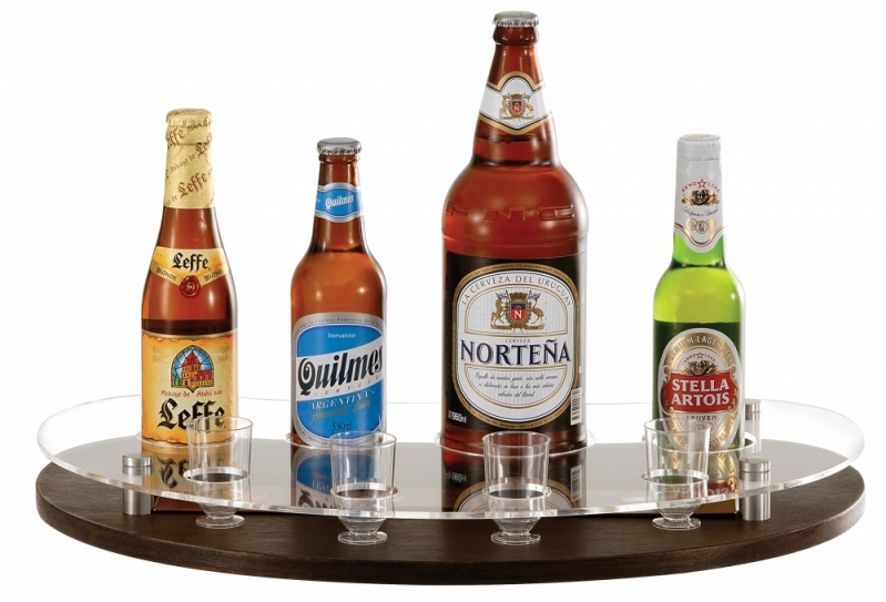 Venda de Bandeja para Degustação de Bebida São João de Meriti - Bandeja Promocional com Alça de Pescoço